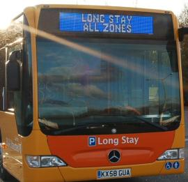Full Colour Vehicle Window LED Destination Signs, Bus