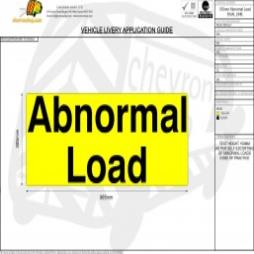 Abnormal Load Text - Dual Line