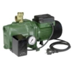 DAB Horizontal Jet Pumps with Pressure switch and Pressure gauge