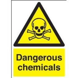 A4 dangerous chemicals sign