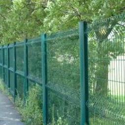 AXIS Welded Mesh Fence Panel Systems - AXIS C Green