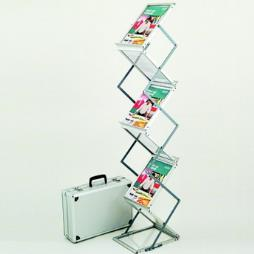 Zig Zag Folding Portable Brochure Stand