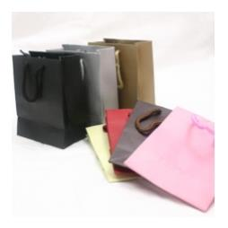 10 Embossed Paper Gift Bags 115x140x55mm