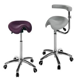 Medi Saddle Stool with arm/ torso support