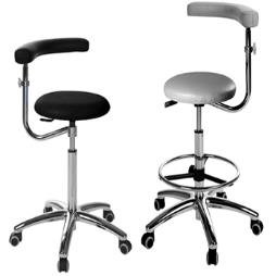 Dental Operator Stool with arm/torso rest
