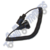 N Type 7 Pin 2.5m Curly Extension Cable (plug & socket)