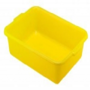 Yellow Plastic Storage Box