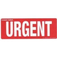 Urgent Labels Pack of 10 Paper Stickers