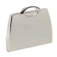 Hand bag mirror in blue gift box