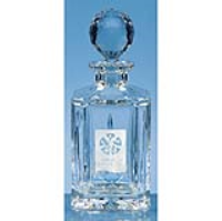 0.8ltr Lead Crystal Panel Square Spirit Decanter