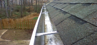 Gutter vac cleaning in Pinner