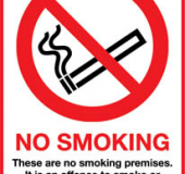 A5 No Smoking Sign in Staffordshire