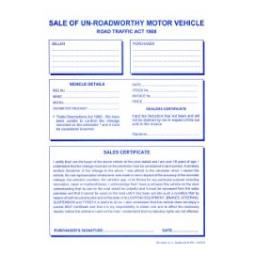 Sale Of Un-Roadworthy Motor Vehicle Pad