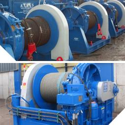 BASE MOUNTED HYDRAULIC WINCHES AND POWER PACKS