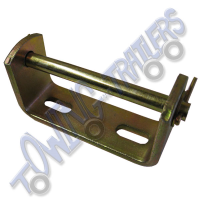 Keel / Vee Roller Bracket 112mm with 10mm Spindle