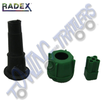 Radex Bayonet Plug Green Righthand - (Pins not included)