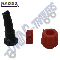 Radex Bayonet Plug Red Lefthand- (Pins not included)