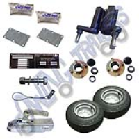 "Running Gear Kit 550kg Unbraked No Mudguards With VIN 8"" Flotation Wheels 4"" PCD - Standard Duty"