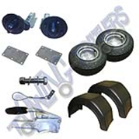 "Running Gear Kit 550kg Unbraked With Mudguards No VIN 10"" Flotation Wheels 100mm PCD - Heavy Duty"