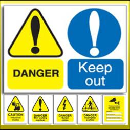 Warning Health and Safety Signs Reading