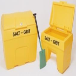 Salt/Grit Bin with Hopper Feed 200 Litre Capacity