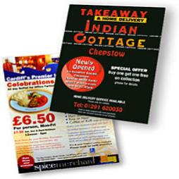 A5 Double Sided Takeaway Menus