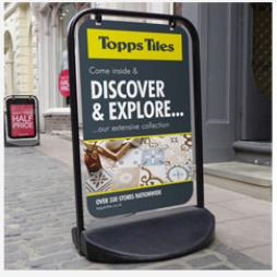 Pavement Advertising Signs Surrey