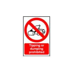 0650 - Tipping Or Dumping Prohibited Sign
