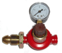 0-2 BAR Adjustable Propane Regulator With Gauge