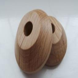 X2 10mm Solid Oak Pipe Covers-lacquered/ Rad Rings -for 10mm Micro Bore Pipe -free Postage