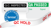 Quality Assurance Labels and Tapes