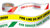 Fire Printed Barrier Tapes