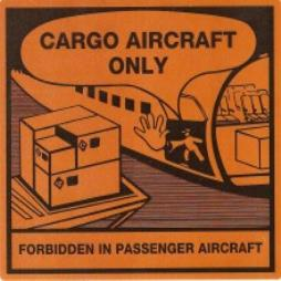 Handling Label 120mmx110mm Cargo Aircraft Only Rolls of 250 (Code VCAO)