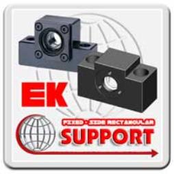 BALL SCREW SUPPORT EK (Fixed-Side Rectangular Type)