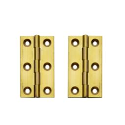 High Quality Brass Butt Hinges - Self Colour