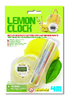 Lemon Powered LCD Clock