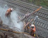 Rope Access at height for the Rail industry