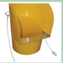 Yellow Hopper Rubbish Chutes Hire