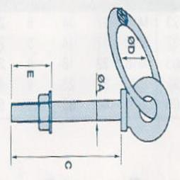 Galvanised Ringbolts