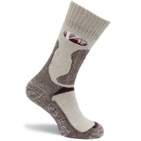 V12 Calf Length Sock Size L Cotton in Fawn