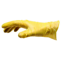 Yellow Vinyl Disposable Gloves Large