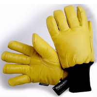 Yellow Hide Freezer Glove