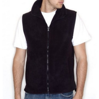 H855 Sleeveless Micro Fleece Black Large