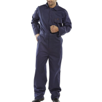 Navy Cotton Drill Boilersuit 112cms 44""