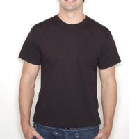 SA103 Heavy Pocket T Shirt Black Large