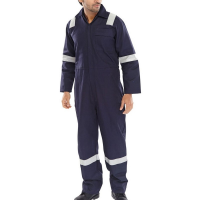 F/R Hi Viz Boilersuit Navy Nordic 44""