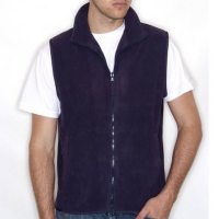 H855 Sleeveless Micro Fleece Navy Medium