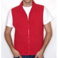 H855 Sleeveless Micro Fleece Red Large