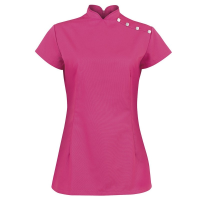 NF959 Stand Collar Tunic Pink 108cm