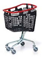 100 Litre LOOP 100 Plastic Shopping Trolley - Red Handle